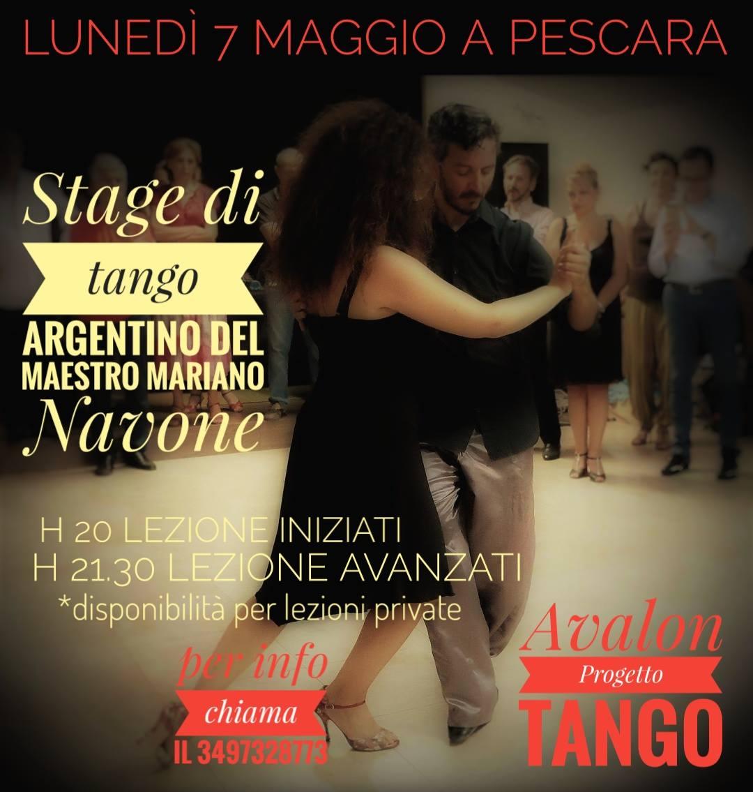 Stage di tango argentino del Maestro Mariano Navone | lunedì 7 maggio 2018
