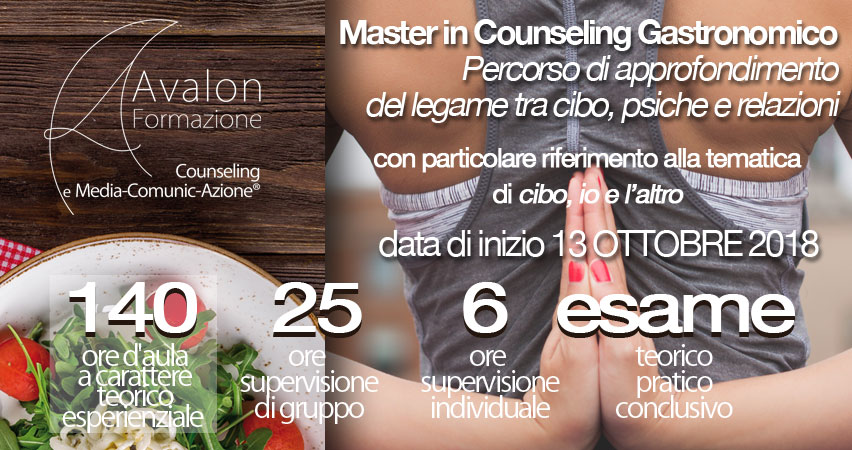 Master in counseling gastronomico - Avalon Counseling e Media-Comunic-Azione