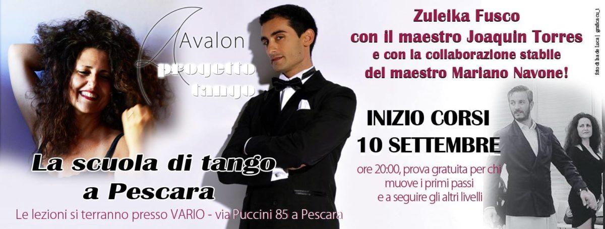 Avalon Progetto Tango Pescara Nuovi corsi settembre 2018
