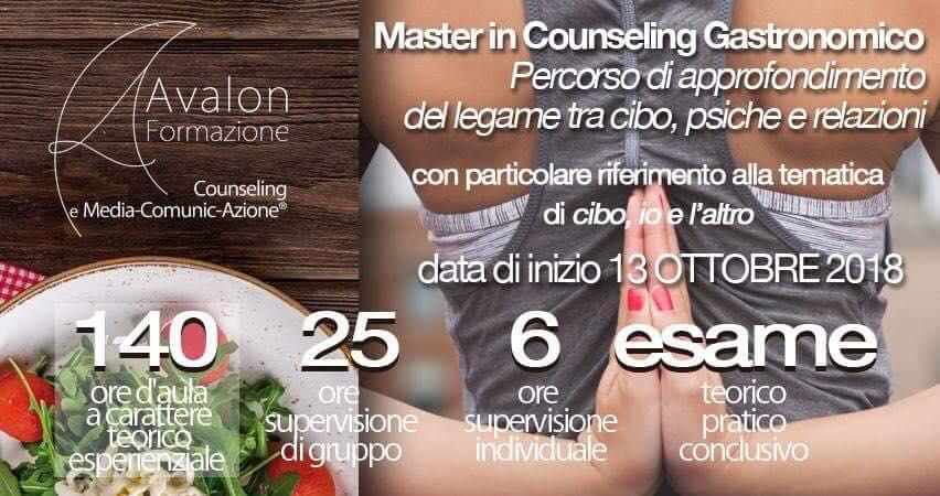 MASTER IN COUNSELING GASTRONOMICO IV EDIZIONE - Avalon Counseling e Media-Comunic-Azione