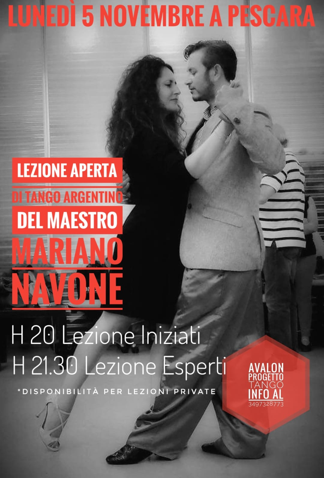 la lezione di tango argentino del Maestro Mariano Navone - Avalon Progetto Tango
