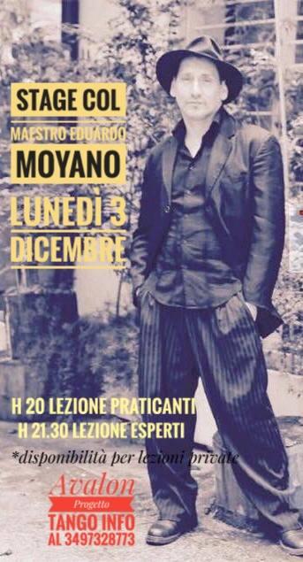 stage del Maestro Eduardo Moyano - avalon progetto tango