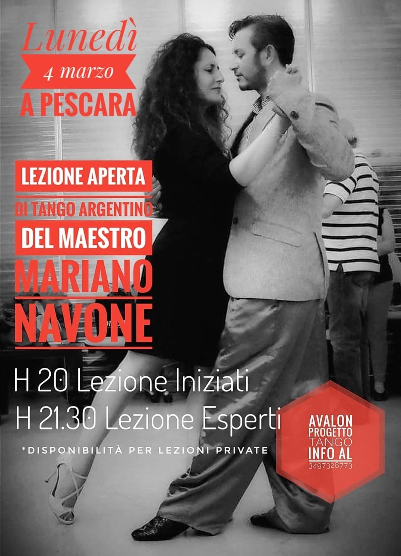 Avalon Progetto Tango - lezione aperta con Mariano Navano