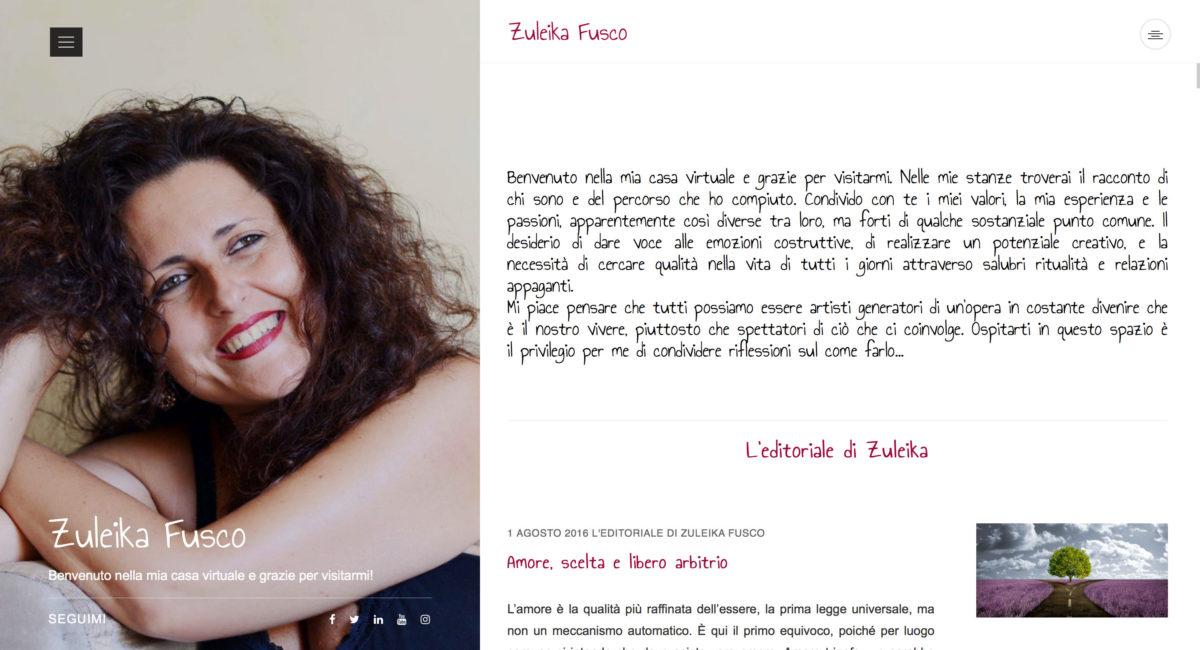 sito web personale di zuleika fusco