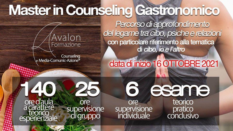 Avalon formazione master counseling gastronomico 2021